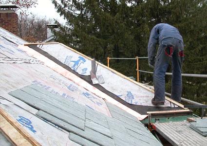 Sharkskin Applications under Slate Roofs