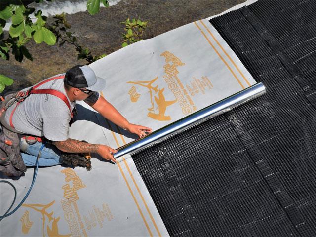 Sharkskin Ultra Radient on Vent Mat Oahu