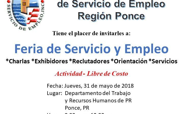 Feria de Servicio y Empleo - 31 de mayo de 2018