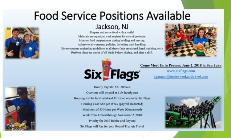 Food Service Positions Available - Jackson, NJ