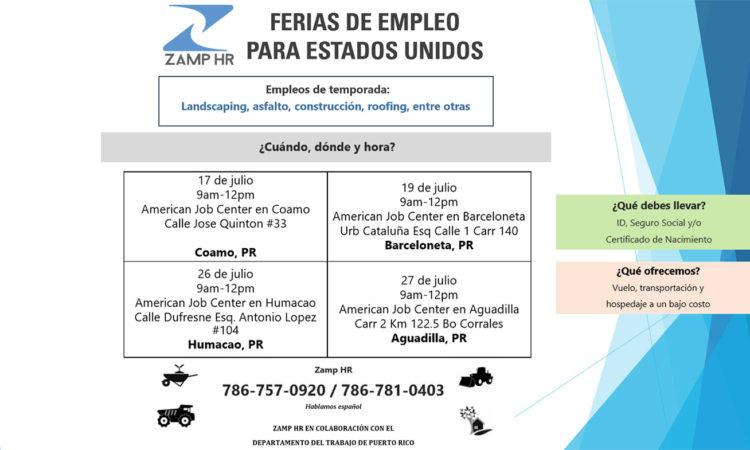 Ferias de Empleo para Estados Unidos - ZAMP HR