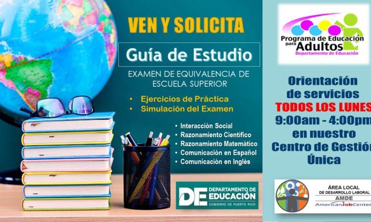Guía de Estudio Examen de Equivalencia de Escuela Superior - Solicítala Ahora