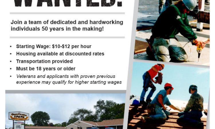 Empleos en Interstate Roofing, USA