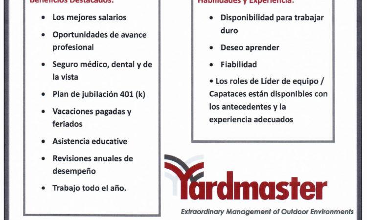 Oportunidades de Empleo en Yardmaster