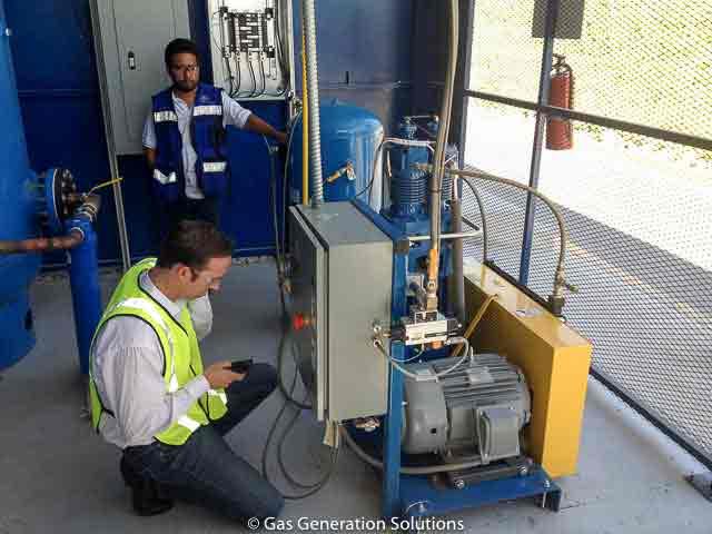 High pressure nitrogen generator gas booster compressor for laser cutting