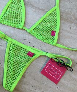 Temptation Micro Bikini - Neon Green By OH LOLA SWIMWEAR