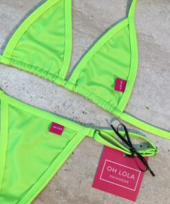 Neon Green Micro Bikini - Neon Green By OH LOLA SWIMWEAR