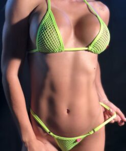 TEMPTATION MICRO BIKINI NEON GREEN BY OH LOLA SWIMWEAR