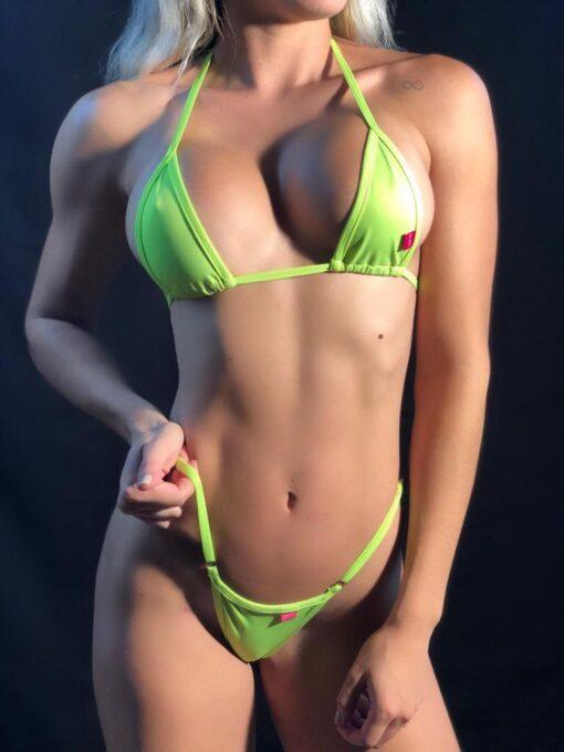 Neon Green Micro Bikini BY OH LOLA SWIMWEAR