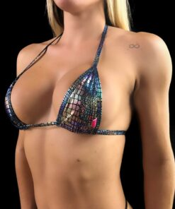 FIRE MICRO BIKINI (TOP) BY OH LOLA SWIMWEAR