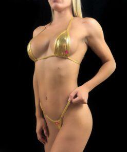 GOLD GALAXY MICRO BIKINI BY OH LOLA SWIMWEAR