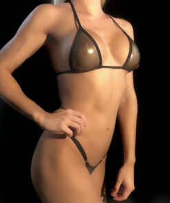 GOLDEN PLEASURE MICRO BIKINI BY OH LOLA SWIMWEAR