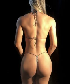 Party Kitten String Micro Bikini (Back) By OH LOLA SWIMWEAR