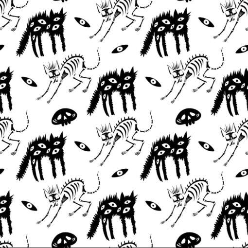 Ghost Kitten Print Pattern - Halloween Season