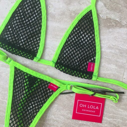 Temptation Mesh Micro Bikini - Green/Black