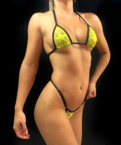 Mesh Stars Micro Bikinis By OH LOLA SWIMWEAR