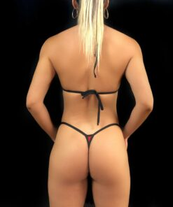 Mesh Stars Micro Bikinis (Back) By OH LOLA SWIMWEAR