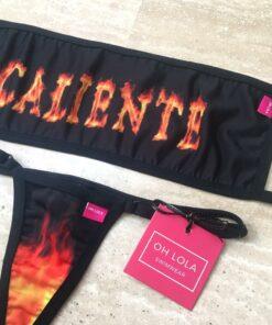 Caliente Bandeau Micro Bikini By OH LOLA SWIMWEAR