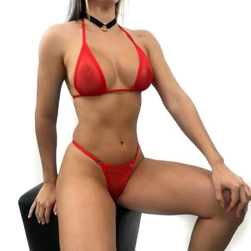 Inferno Micro Bikini By OH LOLA SWIMWEAR