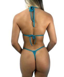 Blue Magic Micro Bikini By OH LOLA SWIMWEAR - Back