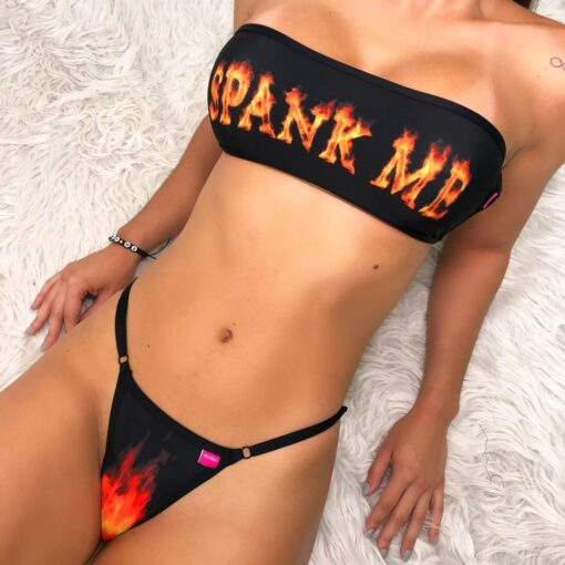 Spank me Bandeau Micro Bikini - by OH LOLA SWIMWEAR