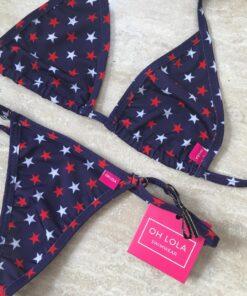 All American Micro Bikini by OH LOLA SWIMWEAR