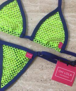 Temptation Green/Navy Micro Bikini by OH LOLA SWIMWEAR