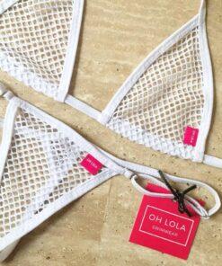 Temptation Pure White Micro Bikini by OH LOLA SWIMWEAR