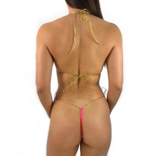 Attraction String Micro Bikini by OH LOLA SWIMWEAR - Side Tied G-String