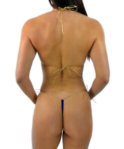 Navy String Micro Bikini by OH LOLA SWIMWEAR - Side Tied G-String