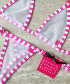 Pink Trouble Micro Bikini by OH LOLA SWIMWEAR