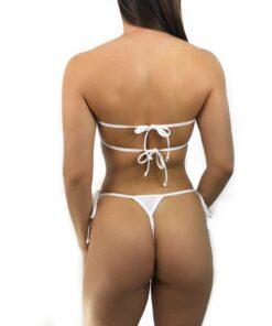 OH LOLA SWIMWEAR Bandeau Micro Bikini - Side Tied V-String