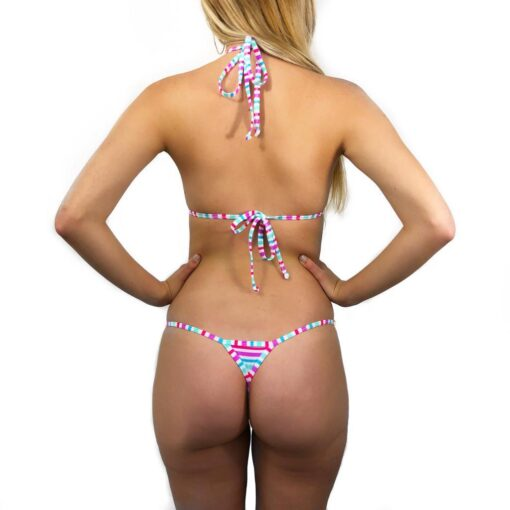 Candy Micro Bikini by OH LOLA SWIMWEAR - Side Adjustable, V-String