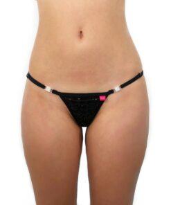 Bella Micro Bikini by OH LOLA SWIMWEAR - Side Adjustable, G-String - FRONT