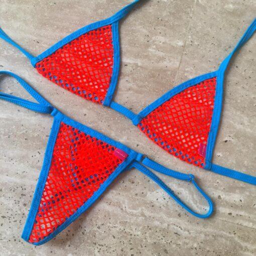 Temptation Mesh Micro Bikini by OH LOLA SWIMWEAR