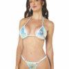 Aquamarine Micro Bikini by OH LOLA SWIMWEAR