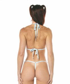 Aquamarine Micro Bikini - Side Adjustable G-String