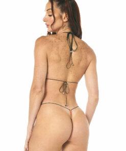 Orange Bud String Micro Bikini by OH LOLA SWIMWEAR - REAR