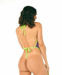 Naughty Orchid One-Piece Swimsuit by OH LOLA SWIMWEAR