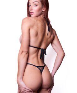Velvet Desire SHEER Micro Bikini by OH LOLA SWIMWEAR - REAR