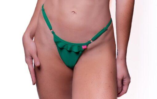 Lucky Micro Bikini by OH LOLA SWIMWEAR - Ruffled Details - BOTTOM