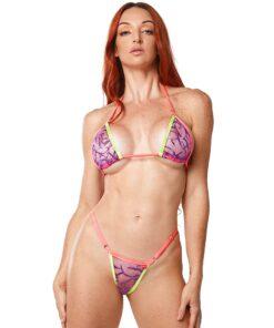 Michelle Micro Bikini (Violet) by OH LOLA SWIMWEAR