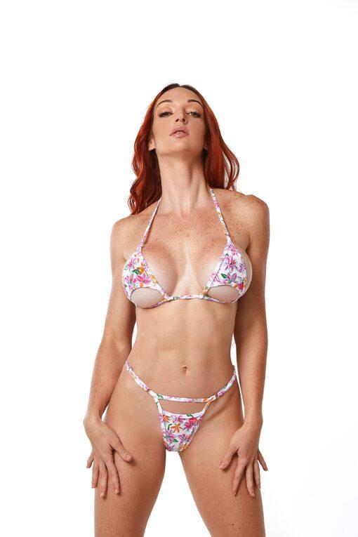 Sexy Blossom Micro Bikini by OH LOLA SWIMWEAR