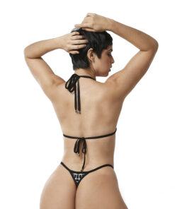 Amélie Micro Bikini by OH LOLA SWIMWEAR - Side Adjustable V-String Bottom