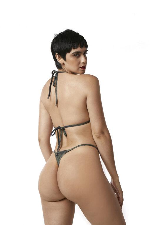 Sexy Camo Micro Bikini by OH LOLA SWIMWEAR - Rear View