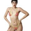 Temptation Micro Bikini Pink/Yellow by OH LOLA SWIMWEAR