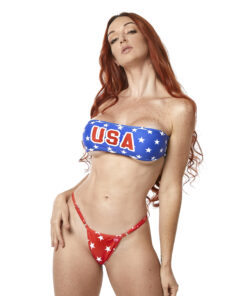 USA Bandeau Micro Bikini by OH LOLA SWIMWEAR