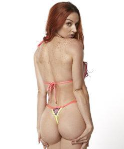 Michelle Micro Bikini (Violet) by OH LOLA SWIMWEAR - Side Adjustable V-String Bottom