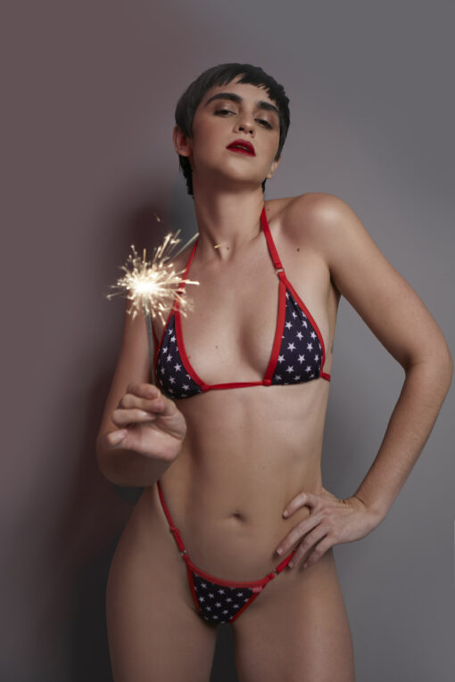 Freedom Stars Micro Bikini by OH LOLA SWIMWEAR
