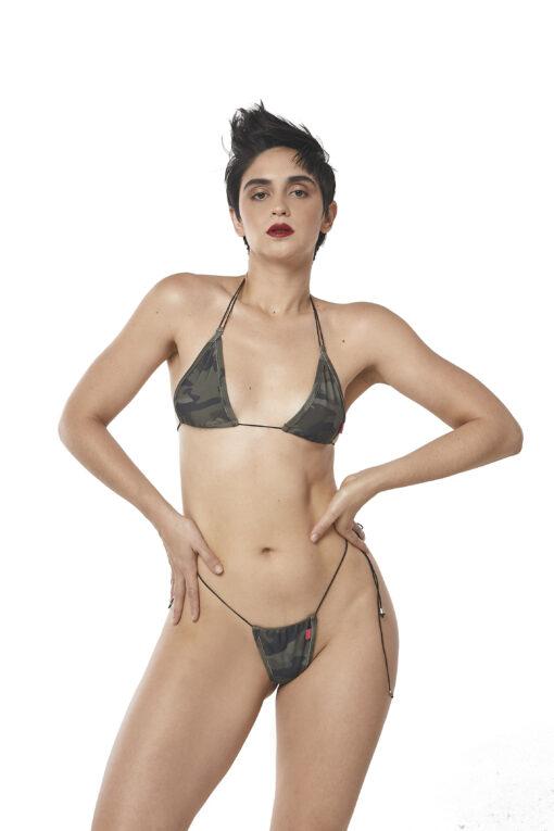 Sexy Camo String Micro Bikini by OH LOLA SWIMWEAR